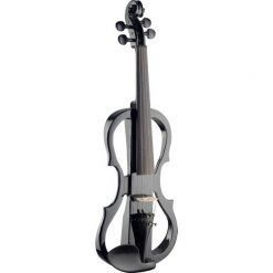 Stagg EVNX44BK 4/4 Black electric violin, soft case and headphones
