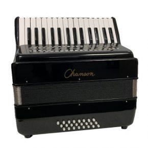 Chanson 7157BK 24 Bass Piano Accordion (Black)