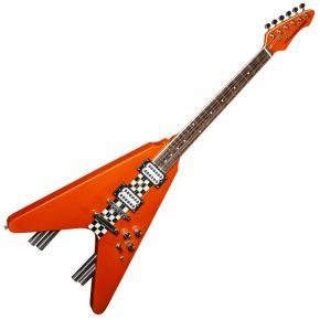 Stagg G Force Electric Guitar Flying V Style Orange